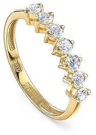 KABAROVSKY <b>Кольцо с 7 бриллиантами</b> из жёлтого золота 11 ...