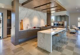 calacatta marble kitchen waterfall: calacatta gold marble kitchen contemporary kitchen