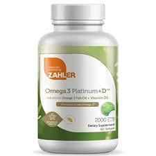 Zahler <b>Omega 3 Platinum</b> +D, All-Natural Pure Fish Oil Supplement ...