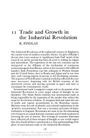trade and growth in the industrial revolution springer inside