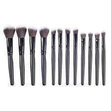 popfeel 7 pcs cosmetic blush eyebrow eyeshadow brushes makeup brush set with case bag
