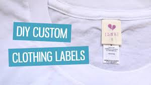 DIY <b>custom clothing labels</b>   CharliMarieTV - YouTube