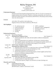 examples of nurse resume   template sample    operating room registered nurse resume example  examples of nurse resume