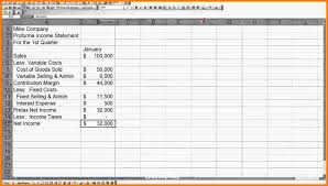 pro forma income statement example case statement  pro forma income statement example jpg
