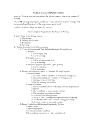 example outline for a research paper reportz web fc com fc example outline for a research examples of outlining an essay