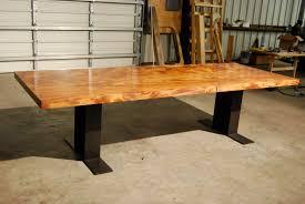 Hardwood Dining Room Table Iron Oak Distinctive Handmade Furniture 8 Foot Ambrosia Maple