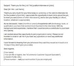 Sample Thank You Letter After Interview - 15+ Free Documents in ... Email Thank You Letter After Interview Template