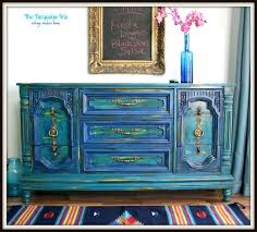 distressed blue furniture. the turquoise iris teal and cobalt blue distressed dresserbuffet furniture n