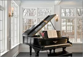 small living room baby grand piano arrange office piano room