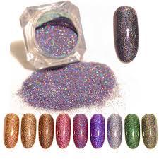 BORN PRETTY Silver <b>Holo</b> Nail Flakes 0.2g <b>Galaxy</b> Bling <b>Laser</b> Nail ...