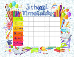 template school timetable for students or pupils days template school timetable for students or pupils days of week and spaces for notes