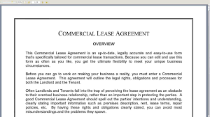 commercial lease agreement commercial lease agreement