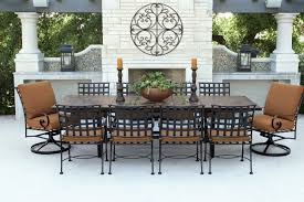 wrought hexagonal table woodard furniture