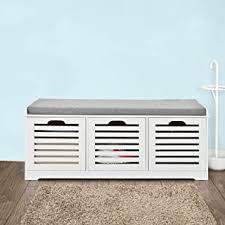 White Storage Benches - Amazon.com
