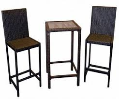 wicker bar height dining table: wicker  piece bar height bistro dining set