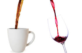 Image result for coffee and wine