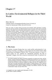 in limbo environmental refugees in the third world springer inside