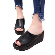 Dasuy Women's Fish Mouth Platform Wedge Sandals ... - Amazon.com