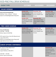 eco pgc career ccc fall 2016 schedule page 001 1