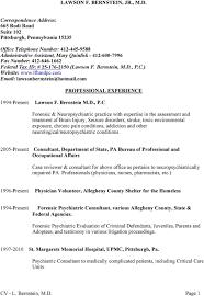 lawson f bernstein jr m d professional experience consultant federal tax id 25 176 2150 lawson f bernstein