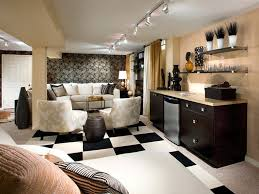 living room marvelous chess flooring pattern in basement feat contemporary furniture units of floral basement track lighting