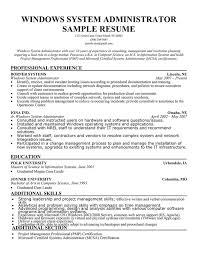 sample system administrator resumes template kronos systems administrator resume