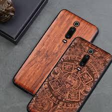 BOOGIC <b>Original Phone Case For</b> Xiaomi mi 9t mi 9 mi9 se Wood ...