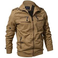 Mens <b>Spring Autumn Outdoor</b> Washed Cotton Jacket Plus Size ...