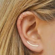 <b>U Shape</b> Ear Clip for <b>Women</b> Gold Silver Color Crystal Stud Earrings ...