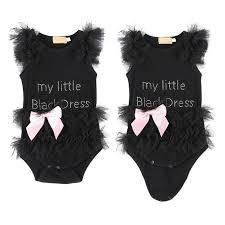 Дети <b>Baby Girl Вышитые</b> My Little Black Платье Bodysuit ...