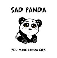 Sad Panda: Image Gallery | Know Your Meme via Relatably.com