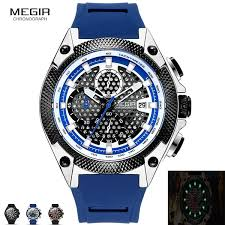<b>MEGIR 2127G Men's</b> Luminous <b>Quartz</b> Watches Multifunction ...