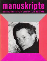 """Werner Schwab auf dem Titelblatt von """"manuskripte"""" 127 ... - Manuskripte0016"""