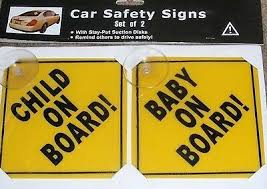 (Set of 2) Baby On Board & <b>Child On Board Car</b> Safety Signs | eBay