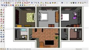 Free Floor Plan Software   Sketchup ReviewAdding furniture in Sketchup first floor