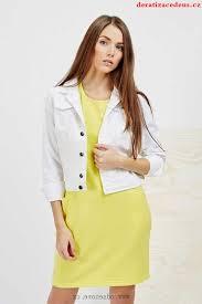 Moodo bílá bunda dámská jeans, lrxk615t1mn3 - Moodo