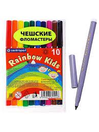 <b>Фломастеры</b> 10 цветов <b>Centropen Rainbow Kids</b> 7550/10 ...