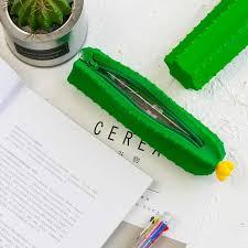 <b>1 Pcs Kawaii Pencil</b> Case <b>Cactus</b> silicone Gift Estuches School ...