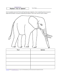 animal writing worksheets at enchantedlearning com elephant fact or opinion