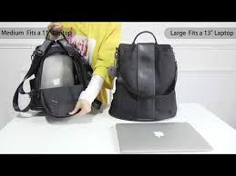 Amazon com <b>Women Backpack</b> Purse Waterproof Nylon <b>Anti theft</b> ...