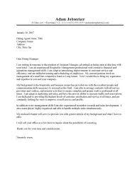 hospitality thank you letter sample hospitality cover letter samples