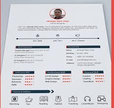 top  best free resume templates psd  amp  ai   colorlib page resume template by jahangir alam jisan