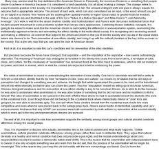 the american dream and the american negro essay samplequot reinterpreting the spanish american essay