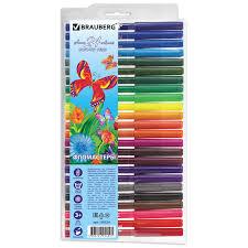 """Купить <b>Фломастеры BRAUBERG</b> """"<b>Wonderful butterfly</b>"""", 24 цвета ..."""