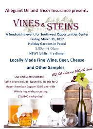 job shadowing community employment for soc clients 14th annual vines steins fundraiser holiday gardens potosi wisconsin united states