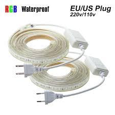 LED Strip Waterproof <b>SMD 5050 AC220V</b> 1M 2M 3M 5M 10M 15M ...