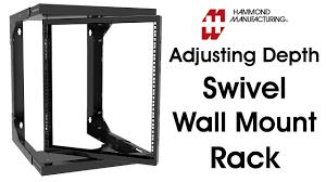 <b>Heavy Duty</b> Adjustable Depth Swivel <b>Wall Mount</b> Rack - YouTube