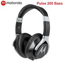 Motorola Pulse 200 Bass Wired <b>Headphone</b> 40mm Large Unit ...