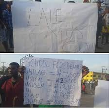 UNIPORT Student Engage In Violent Protest Over High Tuition Fees (Photos)