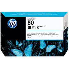 <b>HP 80</b> Original <b>Ink Cartridge</b> C4871A Black | Viking Direct UK